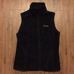 Columbia Women Vest Black Small Ski Zipper